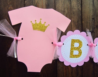 Princess Baby Shower Banner, Princess Birthday Banner, Princess Baby Shower Decorations - Item# 73116224P