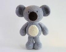 Amigurumi Koala, Plush Koala, Australian Animal Toy, Crochet Koala, Crochet Animal, Koala Bear, Stuffed Animal, Australian Made, Baby Safe