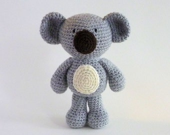 Amigurumi Koala, Plush Koala, Australian Animal Toy, Crochet Koala, Crochet Animal, Koala Bear, Stuffed Animal, Australian Made, Baby Safe
