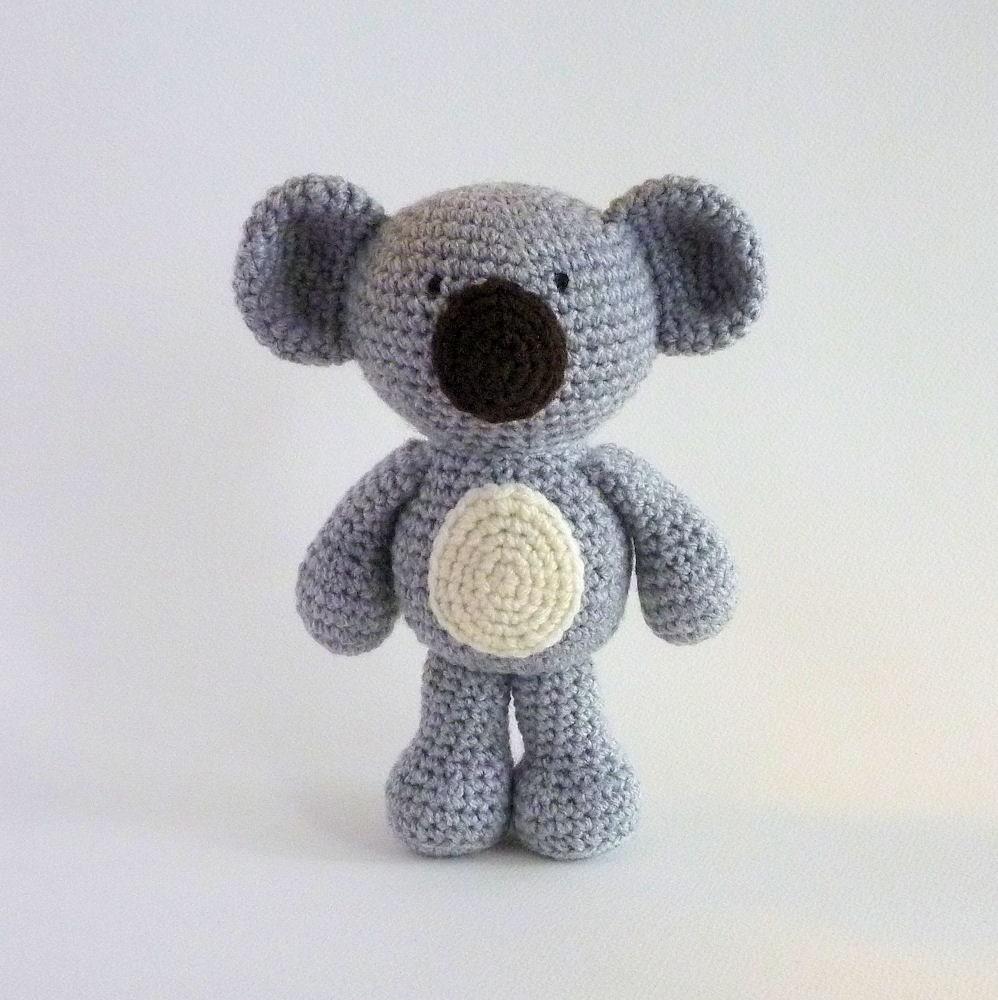 Amigurumi Yarn Australia : Amigurumi Koala Plush Koala Australian Animal Toy Crochet