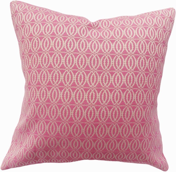 Decorative Pillow With Pearls : Annie Selke Pearls Pink Decorative Pillow Cover by PillowTimeGirls