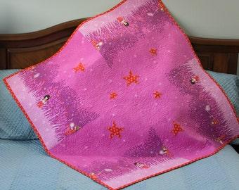 Baby Toddler Girl Quilt Sweet Children's Quilted Throw Baby Girl Shower Gift Crib Quilt Toddler Floor Mat
