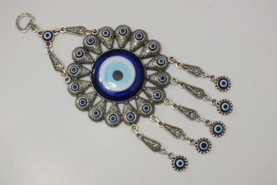 Evil Eye Decoration Wall Hanging : Evil eye wall decor lucky hanging by evileyehome