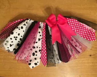 Pink, Black, and White Dalmation Tutu