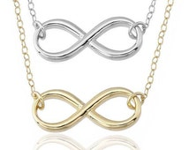 925 Sterling Silver -2014 Collection - infinity Pendant - Great Italian Design -  Pendant with Certificate Charm Necklace - Handmade