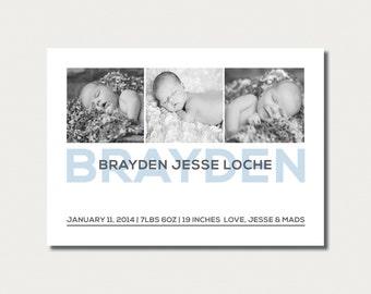 Birth Announcement - Custom Made