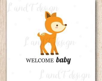 Welcome Baby {Deer} Card
