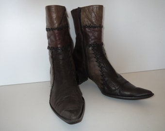 Mitica ankle boots brown leather boots size 38 1 / 2