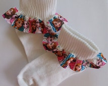 Princess Elsa Ruffled Socks