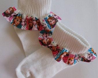 Princess Elsa Ruffled Socks