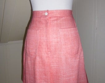 Vintage Jantzen Pink High Waist Skort Small / 1960s 1970s Skirt Shorts