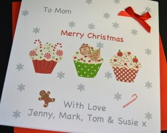 Handmade Personalised Customised Christmas Card