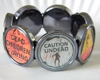 Zombie cameo stretch bracelet