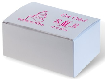 unique wedding cake boxes personalized wedding cake boxes white 30 print colors to 21434