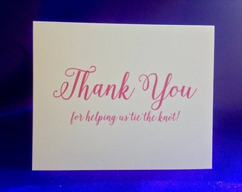 Wedding Card - Thank You For Helping Us Tie the Knot