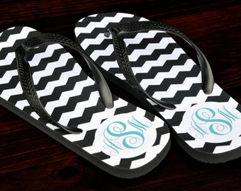Personalized Flip Flops, Custom Wedding Flip Flops, Wedding Flip Flop, Monogrammed Flip Flops, Custom, Personalized Name Sandals, 128FF-1