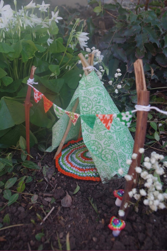 Irish celtic fairy garden teepee by fairyelements on etsy for Irish fairy garden