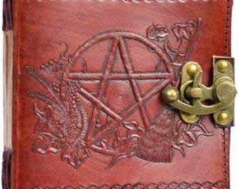 Handmade Leather Book of Shadows Journal-5 Patterns