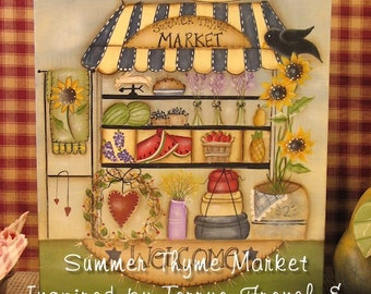 Summer Market - Painted by Denise Guillen, Painting With Friends E Pattern