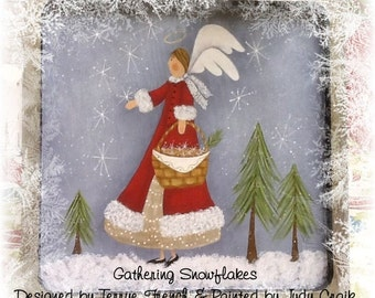 Gathering Flakes by Judy Craik,  Painting With Friends E Pattern