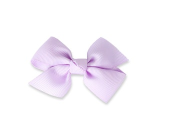 Light purple bow, lilac hair clip, medium girls bow,  hair bow