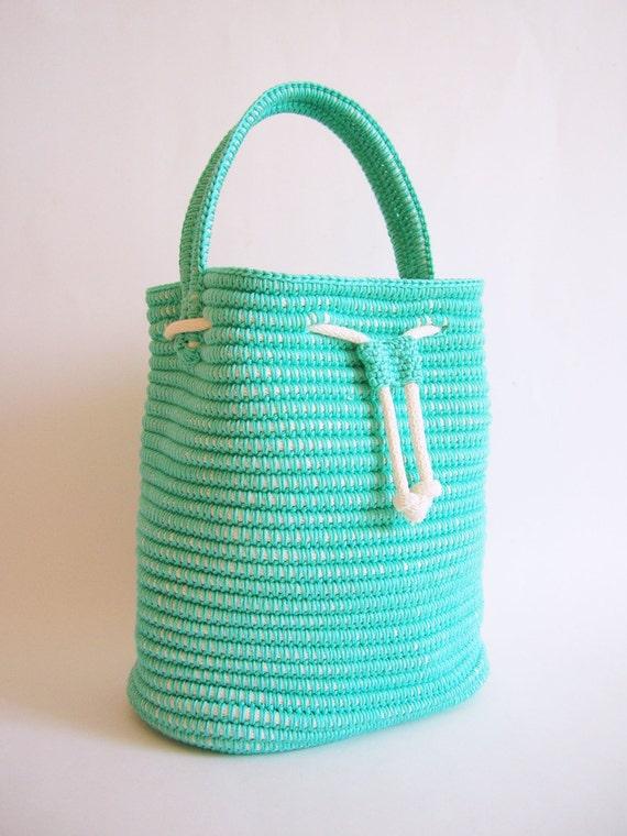Tapestry Crochet Drawstring Bag Pattern : Crochet pattern for a drawstring bag. Practice by ...