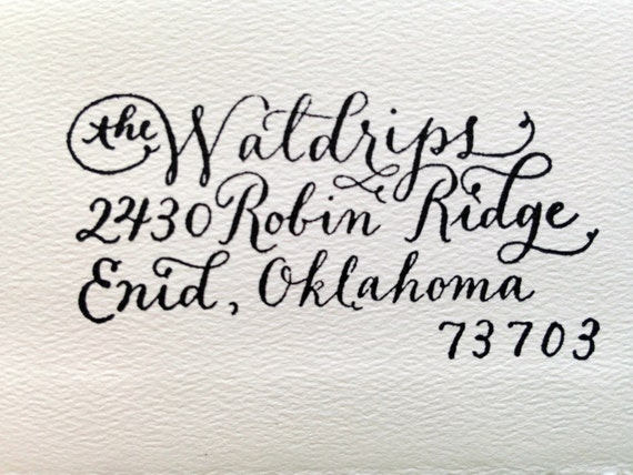 Custom Calligraphy Stamp By Typecastlettering On Etsy