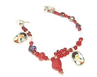 Handcrafted Frida Kahlo Bracelet - Red