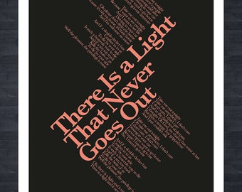 THE SMITHS - There Is A Light That Never Goes Out - Lyrics print