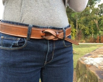 Buckle Less Leather Belt