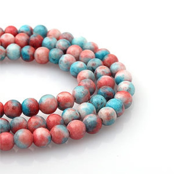4mm gemischt pink himmelblau gef rbte jade stein ball. Black Bedroom Furniture Sets. Home Design Ideas