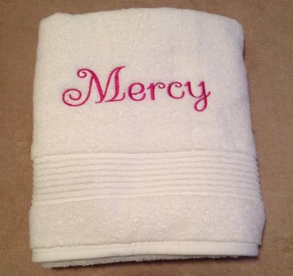 Personalized Bath Towels Embroidered Baby Gifts Custom