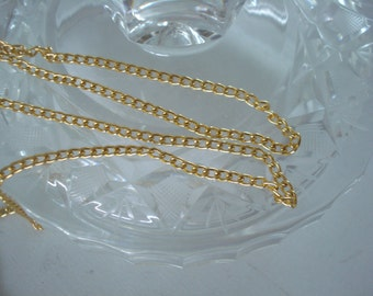 Gold Tone Chain by the Yard