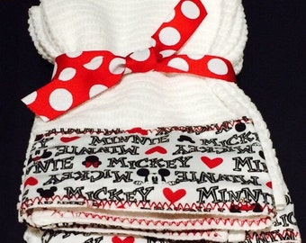 Mickey and Minnie Hand Towels