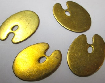 4 Vintage Brass Artiast Pallet Stampings