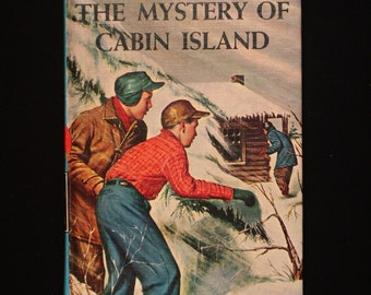 Vintage 1966. The Hardy Boys, The Mystery of Cabin Island by Franklin W. Dixon. Number 8 in the 66 book series.