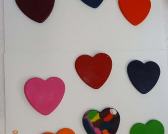 2 Heart Shaped Valentines Day Crayons