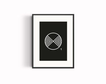 O typography poster, wall art