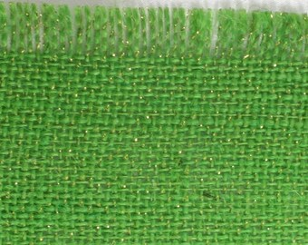 "Lime Glitter Burlap Table Runner 15"" x 72"" , great for the holidays. rustic, fringed edges, variety of colors (BFG-R50A)"