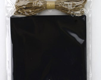 Set of 12 Chalkboard Swallow Tail Banner with 5 yard jute twine. Great for every occasions, rustic country events, and decorations. (CBT04)