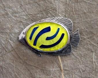 Cloisonne Enamel Fish Pin