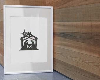 Instant Download ~Manger Scene 2 Machine Embroidery Design~