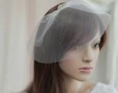 Birdcage Veil,Bridal mini veil ---mini tulle veil----v240
