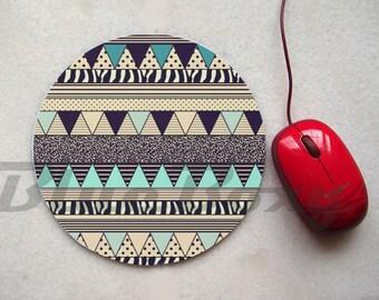 Aztec Geometric Mousepad, Office Mousepad, Computer Mouse Pad, Fabric Mousepad
