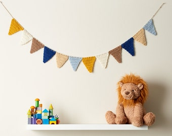 Crocheted Colorful Bunting