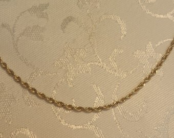 """Fancy Rope Chain 24"""" w/sturdy Lobster Claw Clasp in 14k Gold - EB287"""
