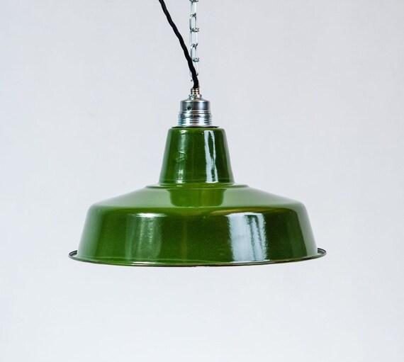 Lampada Industriale da fabbrica Bauhaus Vintage SMALTATO