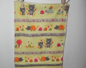 Yellow Bee Wilderness Cotton Flannel and Terry Burp Cloth
