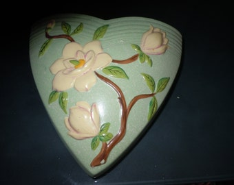 High Relief Dogwood Brentleigh pottery Wall pocketMade in England Natall