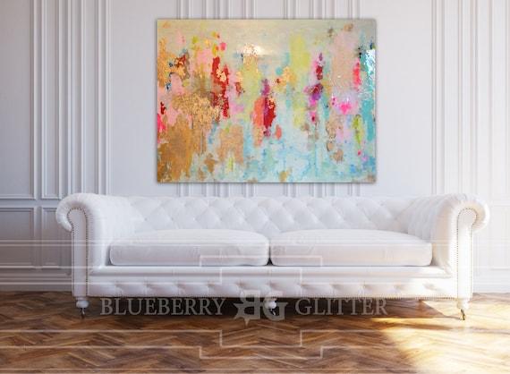vendu acrylique abstrait art grande toile de peinture. Black Bedroom Furniture Sets. Home Design Ideas